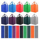 Image of Simply Green Solutions Reusable Reinforced Handle Grocery Tote Bag Large 10 Pack - 10 Color Variety