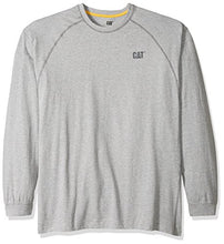 Caterpillar Men's Performance Long Sleeve T-Shirt (Regular and Big & Tall Sizes), White, Small