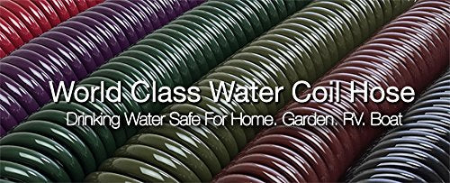 Water Right Professional Coil Garden Hose, Lead Free & Drinking Water Safe, 50-Foot x 3/8-Inch, Rosemary