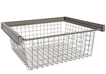 Organized Living freedomRail Reveal Wire Basket - Nickel