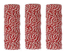 Plain Kraft Wrapping Paper/Postal Wrap (3 Rolls Red Bakers Twine)