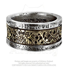 Dr. Von Rosenstein's Induction Principle Pewter and Brass Steampunk Ring By Alchemy Gothic Size 11
