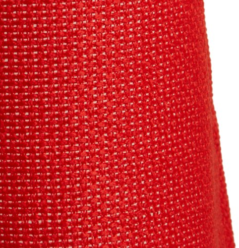 "LORRAINE HOME FASHIONS, Red Jackson 58 x 24-inch Tier Curtain Pair, 58"" x 24"""