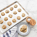 Image of Zacfton Baking Sheet Set of 4, Stainless Steel Baking Pan Tray Cookie Sheet, Non Toxic & Healthy, Rust Free & Easy Clean & Dishwasher Safe