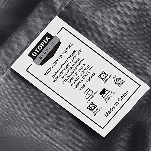 Utopia Bedding Bed Sheet Set   4 Piece King Bedding   Soft Brushed Microfiber Fabric   Wrinkle, Shri