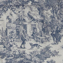 Image of Victoria Park Toile Bradford Valence Window Curtain, Blue