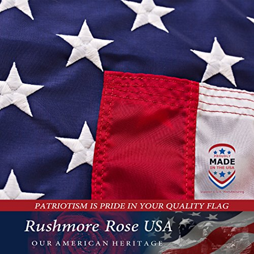 American Flag 3x5   Made In Usa. Premium Us Flag. Embroidered Stars And Stripes   American Flags Mad