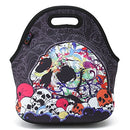 Image of ICOLOR Skull Boys Girls Insulated Neoprene Lunch Bag Tote Handbag lunchbox Food Container Gourmet Tote Cooler warm Pouch For School work Office