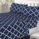 Image of Utopia Bedding Printed Bed Sheet Set   1 Fitted Sheet, 1 Flat Sheet And 2 Pillowcases   Soft Brushed