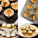 Image of Eoonfirst Gold Foil Metallic Cupcake Case Liners Baking Muffin Paper Cases 198 Pcs