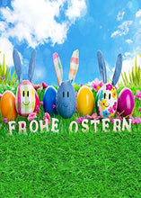 GladsBuy Cute Easter Egg 5' x 7' Computer Printed Photography Backdrop Easter Theme Background LMG-279
