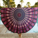 Image of GLOBUS CHOICE INC. Lavender Round Tapestry Wall Hanging Mandala Tapestries Indian Cotton Hippie Round Tapestry