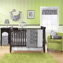 Bananafish Bananafish Taylor 3 Piece Crib Set, Black, Cotton