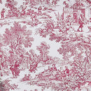 Image of Victoria Park Toile Tie-Up Valence Window Curtain, Red