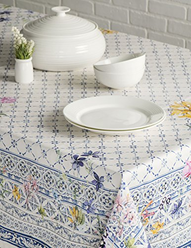 Maison D' Hermine Faã¯Ence 100% Cotton Tablecloth For Kitchen Dinning Tabletop Decoration Parties We