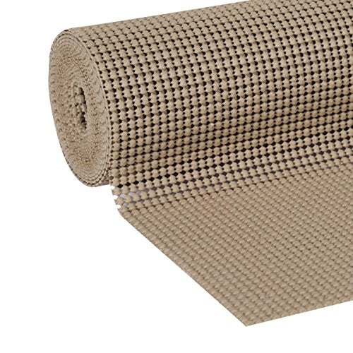 Duck Brand Select Grip Easy Liner Shelf And Drawer Liner, 12 Inch X 10 Feet, Non Adhesive, Brownstone