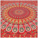 Image of GLOBUS CHOICE INC. Wall Hanging Tapestries Mandala Tapestries Throw Bedspread Red Peacock Hippie Hippie Wall Tapestry Superior Quality