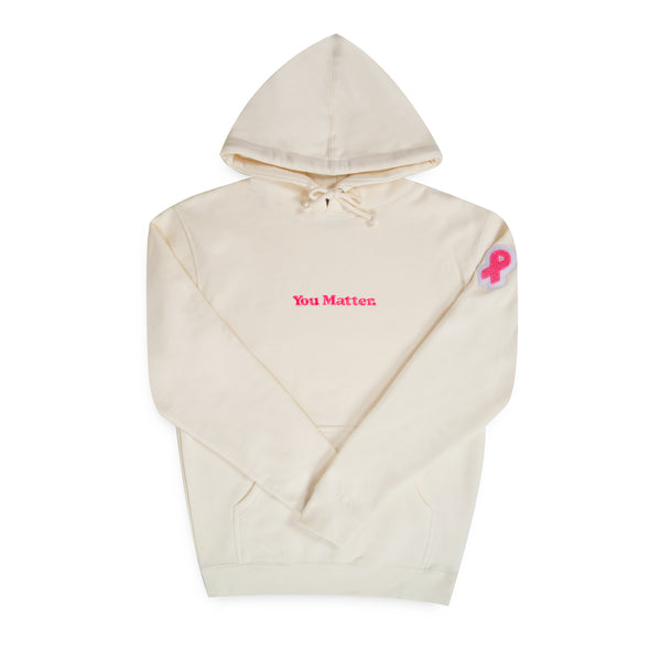 """You Matter"" Hoodie - 2019 Breast Cancer Awareness Edition - Cream"