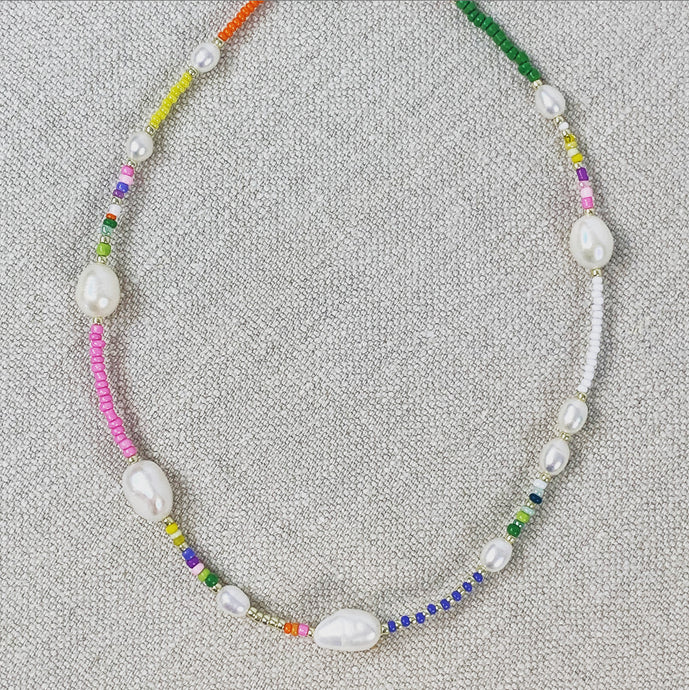 Rainbow & Pearls Necklace 1