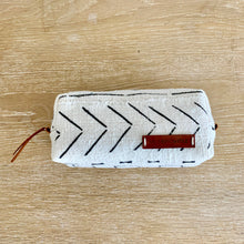 Load image into Gallery viewer, bohemian white and black tribal make up bag