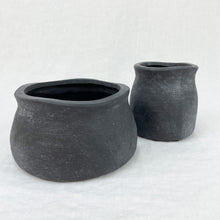 Load image into Gallery viewer, Flanders Farmhouse Vessel and Vase in matte black ceramic. Each sold separately.