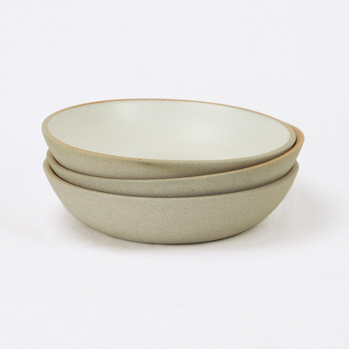 White and grey ceramic bowl by Humble Ceramics