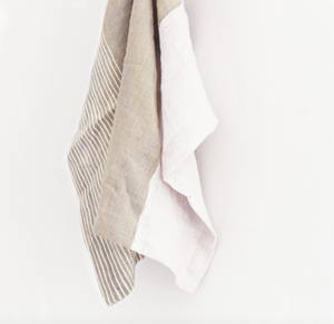 Tea towel by Creative Women with stone color blocking and stripes