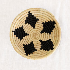 African basket bowl in natural and black