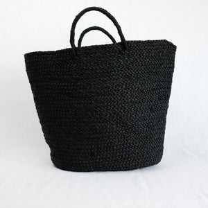 black raffia beach tote by Indego Africa