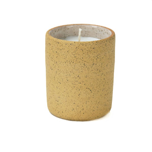 Norden ceramic candle, natural speckled stoneware