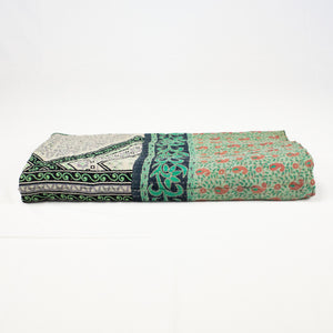 kantha cotton quilt multi color and multi print