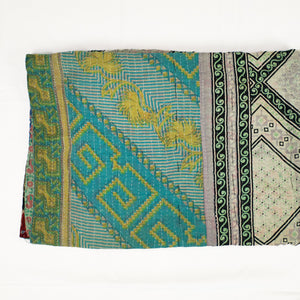 light weigh cotton quilt from India with traditional woodblock prints