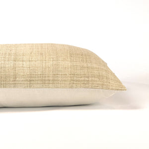 Hmong pillow in neutral sand color