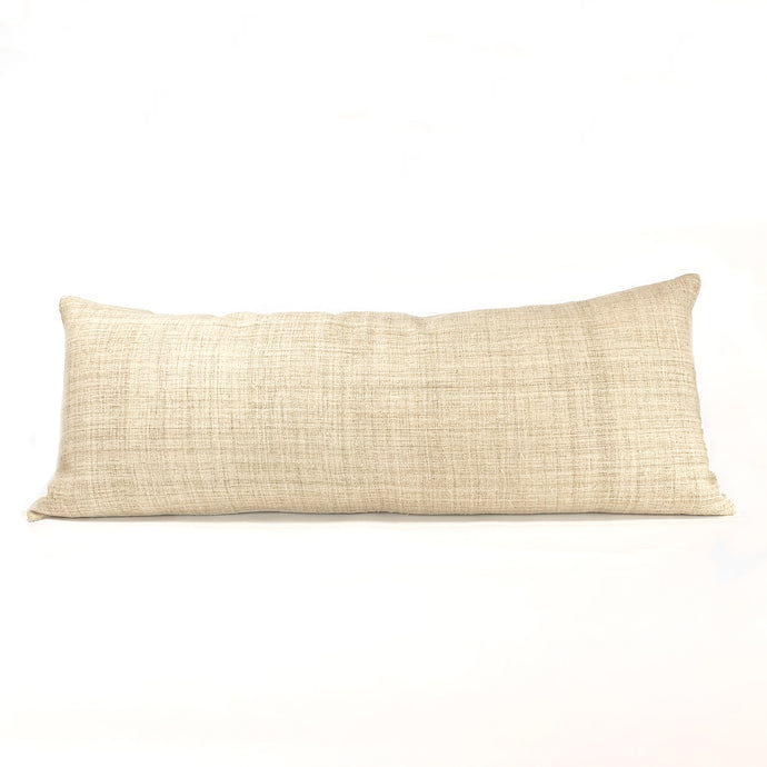 sand colored long lumbar pillow