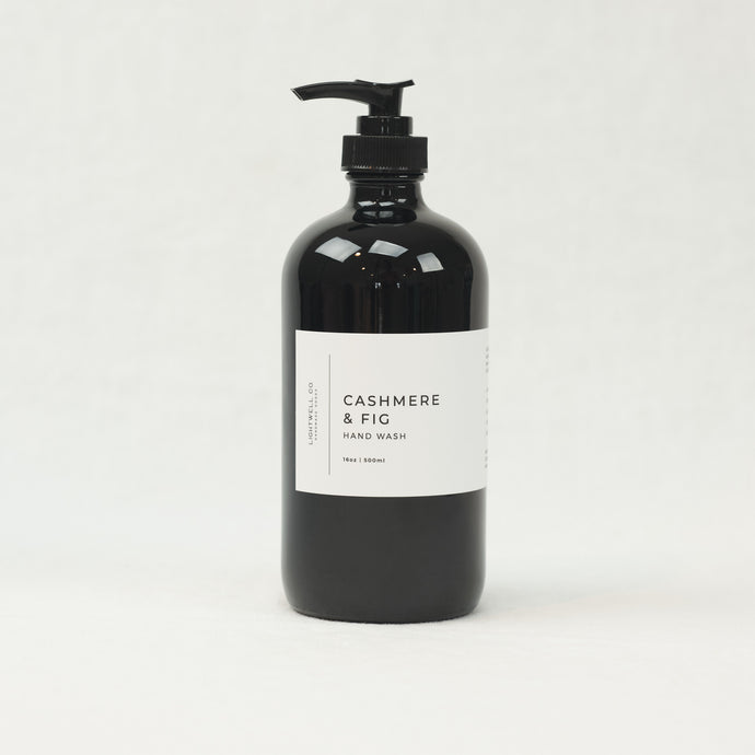 Cashmere & Fig hand wash by Lightwell Co, 16 oz bottle.