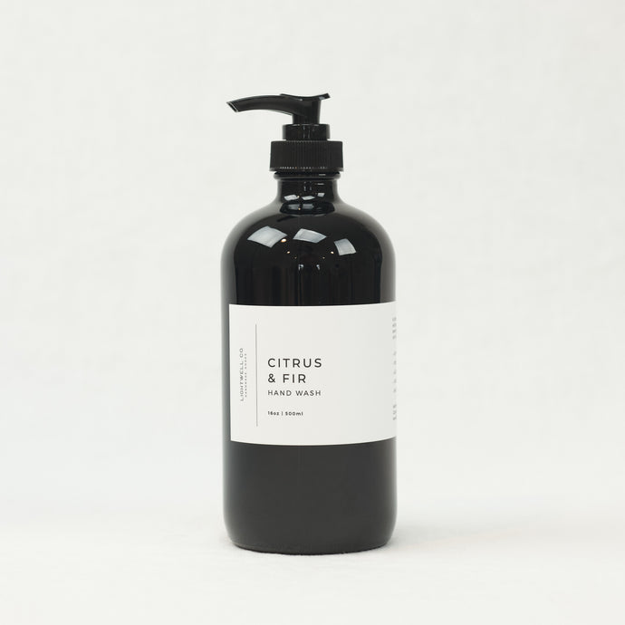 Citrus & Fir hand wash by LIghtwell Co. 16 oz bottle.