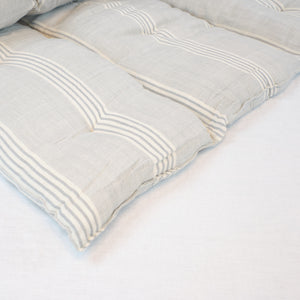 Tensira Grey Ticking Stripe Mattress.