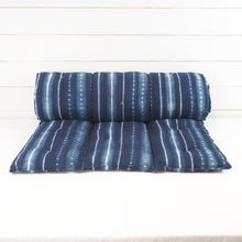 Load image into Gallery viewer, Indigo Stripe Shibori Bedroll