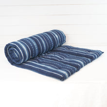 Load image into Gallery viewer, Tensira stripe indigo mattress.