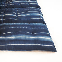 Load image into Gallery viewer, Tensira indigo stripe I.214 cotton mattress.
