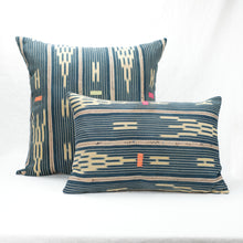 "Load image into Gallery viewer, Jasmine Baule Pillow 22"" square shown with rectangular Jasmine Baule Pillow."