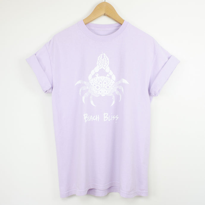 Beach Bliss Graphic T by LINEN & SAND in color lilac.