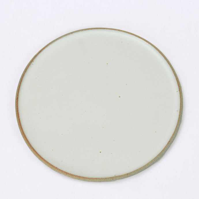 Matte white ceramic dinner plate by Humble Ceramics
