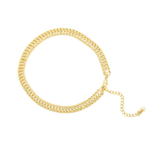Gold Tight Link Anklet