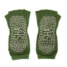 Load image into Gallery viewer, Yoga Grip Toe Socks - Green