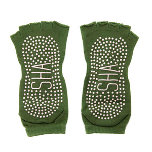 Yoga Grip Toe Socks - Green