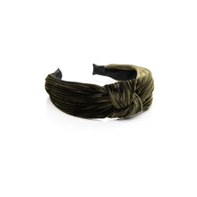 Load image into Gallery viewer, Ophelia Headband - Velvet Olive