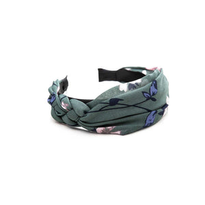 Ophelia Headband - Meadow Green Floral