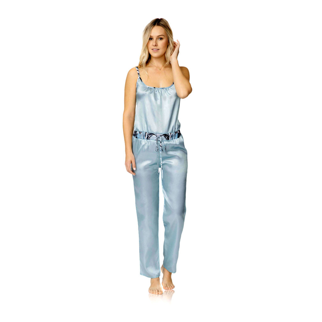 Harper Jumpsuit Sleep Set - Blue Marble