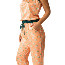 Load image into Gallery viewer, Harper Jumpsuit Sleep Set - Teal Floral